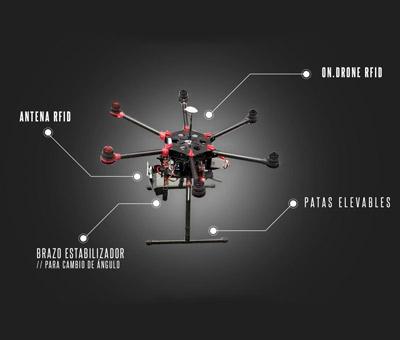 On.drone, el dron que gestiona el inventario del almacén con sistema RFID