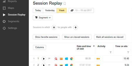 UX Grabación de Sesiones